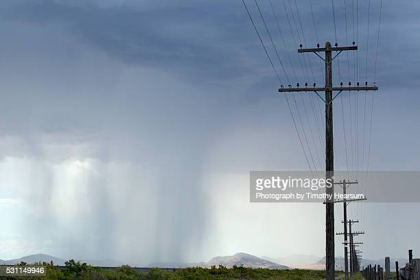 storm with power poles and lines - timothy hearsum ストックフォトと画像