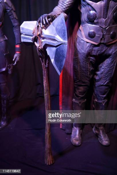 Stormbreaker Thor's Hammer from Avengers Infinity War seen at the Marvel Studios's Avengers Endgame opening day marathon event at El Capitan Theatre...