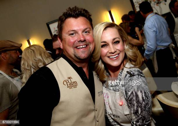 Storme Warren and Kellie Pickler attend the 16th Annual Waiting for Wishes Celebrity Dinner Hosted by Kevin Carter Jay DeMarcus on April 18 2017 in...