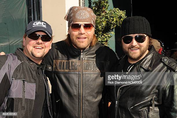 ACCESS* Storme Warren James Otto and Randy Houser participate in the Academy Of Country Music Chairman's Ride on April 4 2009 at MGM Grand...