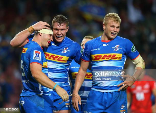 Stormers celebrates during the Super Rugby match between DHL Stormers and Sunwolves at DHL Newlands on June 08, 2019 in Cape Town, South Africa.