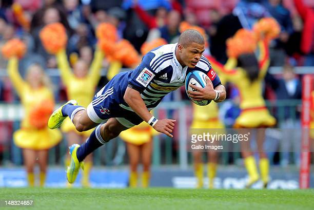 Stormers centre Juan de Jongh in action during the Super Rugby match between DHL Stormers and Melbourne Rebels at DHL Newlands on July 14 2012 in...
