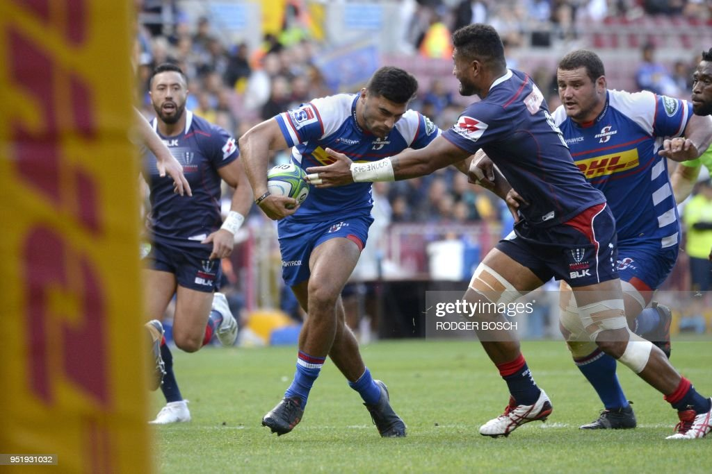 RUGBYU-SUPER-STORMERS-REBELS : News Photo