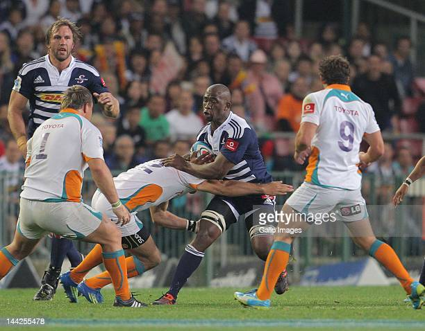 Stormers flank Siya Kolisi in action during the Super Rugby match between DHL Stormers and Toyota Cheetahs from DHL Newlands on May 12 2012 in Cape...