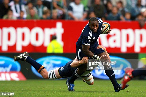 Stormers' Gcobani Bobo in action during the Super 14 match between Vodacom Stormers and Brumbies at Newlands Stadium on May 03 2008 in Cape Town...