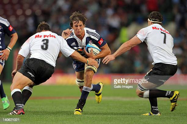 Stormers lock Eben Etzebeth in action during the 2012 Super Rugby match between DHL Stormers and The Sharks from DHL Newlands on March 03 2012 in...