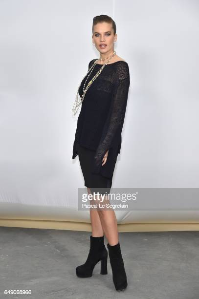 Stormi Henley attends the Chanel show as part of the Paris Fashion Week Womenswear Fall/Winter 2017/2018 on March 7 2017 in Paris France