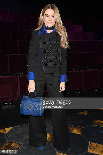 Stormi Henley attends the Dolce Gabbana show during Milan Men's Fashion Week Fall/Winter 2017/18 on January 14 2017 in Milan Italy