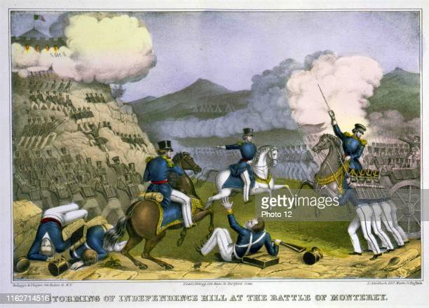 Storming of Independence Hill at the Battle of Monterey. Published: [between 1850 and 1900]. The Battle of Monterey, at Monterey, California, was...