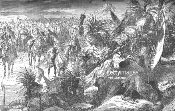Storming of Sekukuni's Stronghold Sir Garnet Wolseley cheering on the Swazies' circa 1880 Episode of the AngloZulu Wars From British Battles on Land...