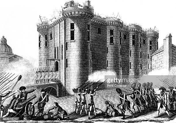 Storming of the Bastille by Parisians led by the Grenadier Guards 14 July 1789 On the morning of 14 July 1789 a crowd advanced on the Bastille the...