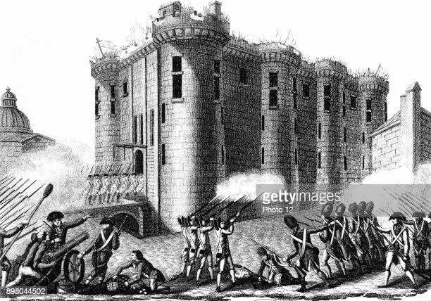 Storming of the Bastille by Parisians led by the Grenadier Guards 14 July 1789 Photo12/UIG via Getty Images