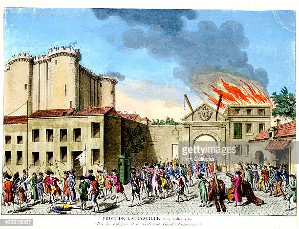 Storming of the Bastille French Revolution Paris 1789 On the morning of 14 July 1789 a crowd advanced on the Bastille the state prison in Paris Their...