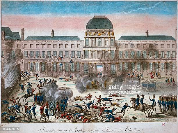 Storming of the Tuileries in Paris, August 10, 1792. French Revolution, France, 18th century. Paris, Hôtel Carnavalet