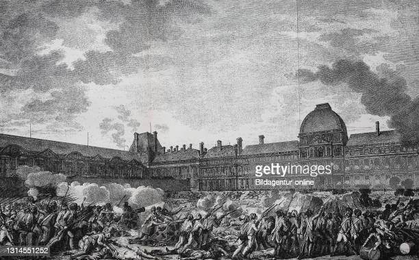 Storming of the Tuileries Tuileries, August 10, 1792 was an event during the uprising in Paris during the French Revolution / Sturm auf die...