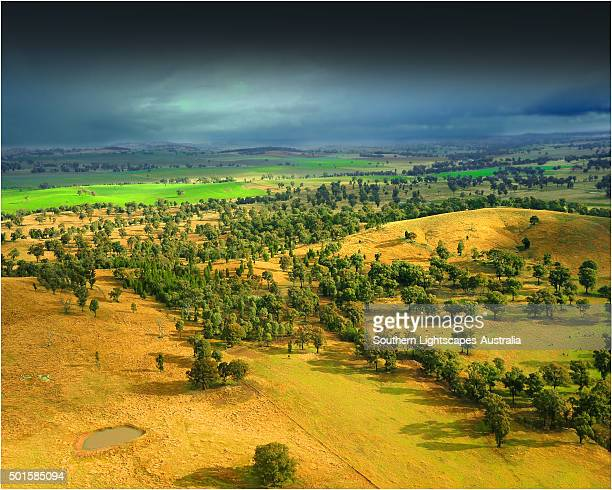 Storm-light over farmland in Western New south Wales, Australia.