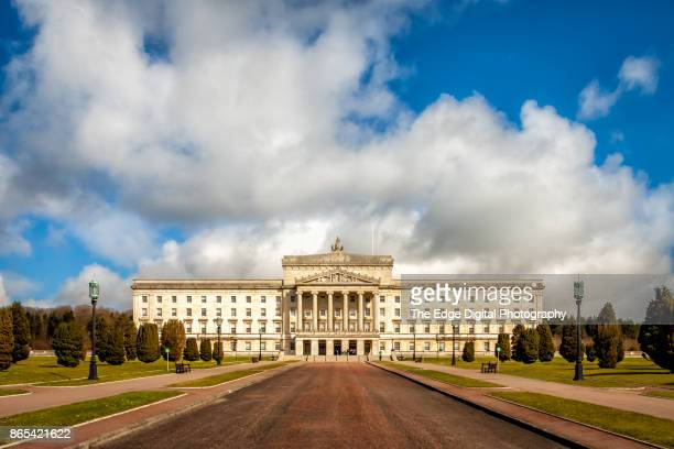 stormont buildings belfast - stormont stock photos and pictures