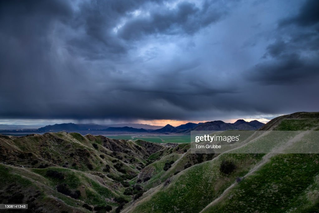 Storm's Last Light : Stock Photo