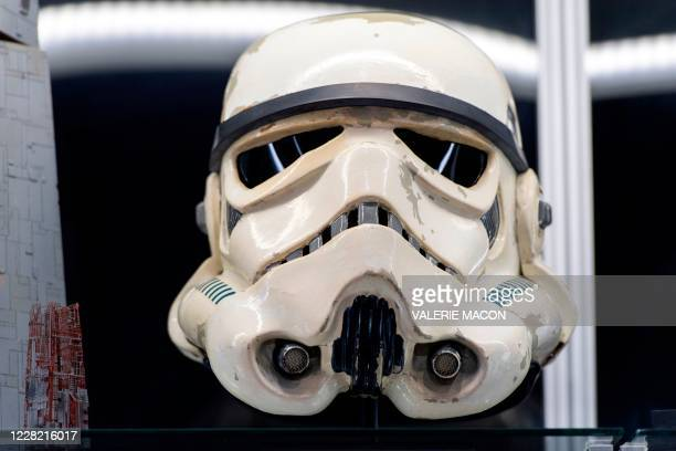 """Stormtrooper helmet from """"Star Wars"""" is seen at Prop Store, August 26 in Valencia, California. - The piece is part of the over 850 film and TV props..."""