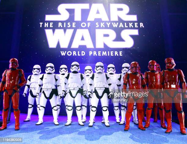 Stormtroopers are seen at the Premiere of Disney's Star Wars The Rise Of Skywalker on December 16 2019 in Hollywood California