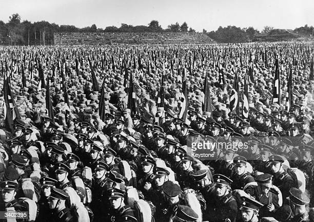 Stormtroopers at a Nazi rally in Nuremberg