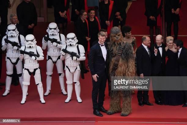 Stormtroopers Finnish actor Joonas Suotamo Chewbacca British actress Thandie Newton US actor Woody Harrelson US director Ron Howard British actress...