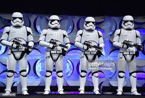 Stormtroopers onstage during Star Wars Celebration 2015 on April 16, 2015 in Anaheim, California.