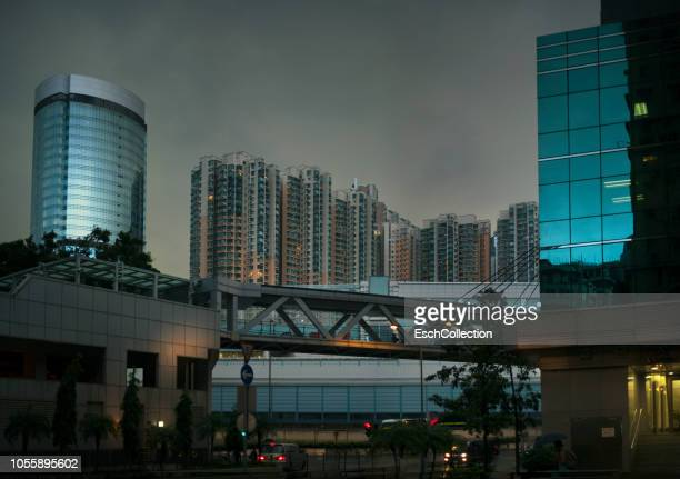 Stormy afternoon at Olympic City area of Hong Kong
