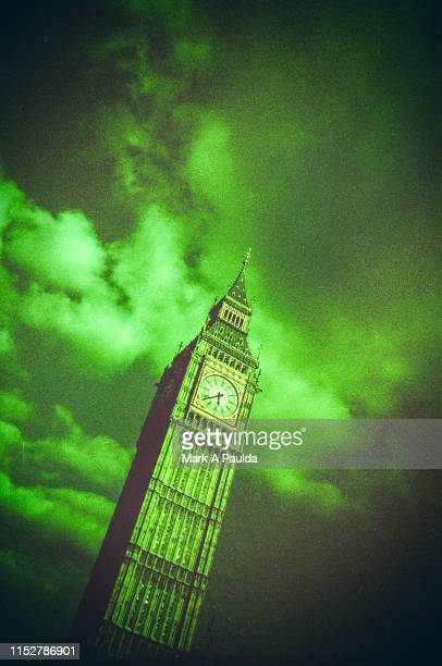 stormy big ben - cross processed stock pictures, royalty-free photos & images
