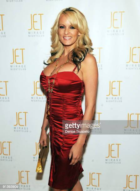 Stormy Daniels arrives at Jet Nightclub at The Mirage on October 3 2009 in Las Vegas Nevada