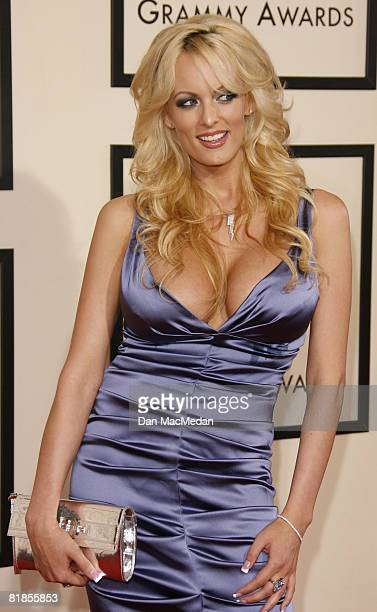 Stormy Daniels arrives on the red carpet for The 50th Annual Grammy Awards held at the Staples Center on February 10 2008 in Los Angeles California