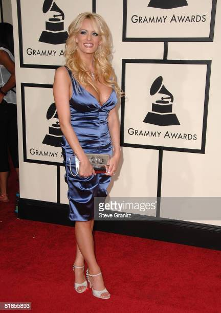 Stormy Daniels arrives to the 50th Annual GRAMMY Awards at the Staples Center on February 10 2008 in Los Angeles California