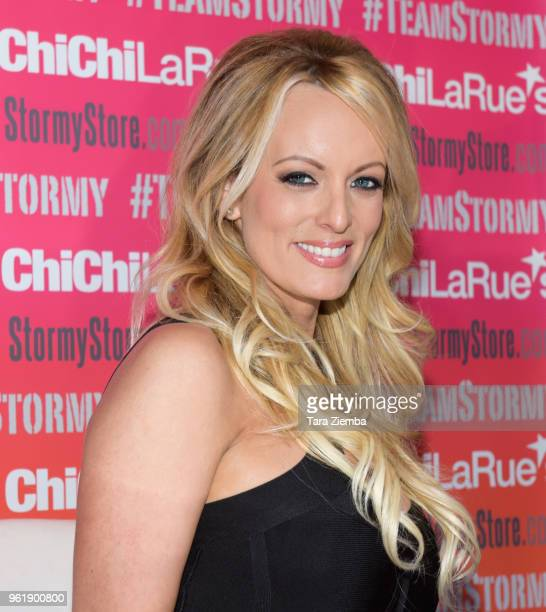 Stormy Daniels attends a fan meet and greet at Chi Chi LaRue's on May 23 2018 in West Hollywood California