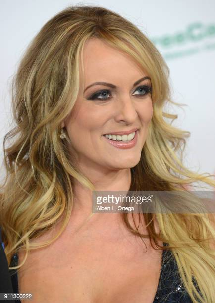 Stormy Daniels attends the 2018 Adult Video News Awards at the Hard Rock Hotel Casino on January 27 2018 in Las Vegas Nevada