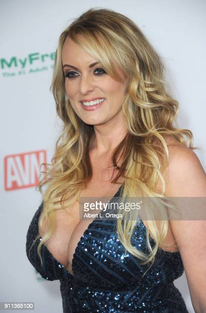 Stormy Daniels attends the 2018 Adult Video News Awards held at Hard Rock Hotel Casino on January 27 2018 in Las Vegas Nevada