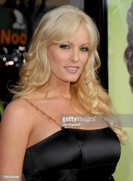 Stormy Daniels during 'Knocked Up' Los Angeles Premiere Arrivals at Mann Village Theater in Westwood California United States