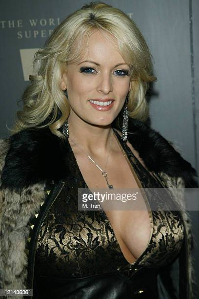 Stormy Daniels during Trump Vodka Launch Party Arrivals at Les Deux in Hollywood California United States