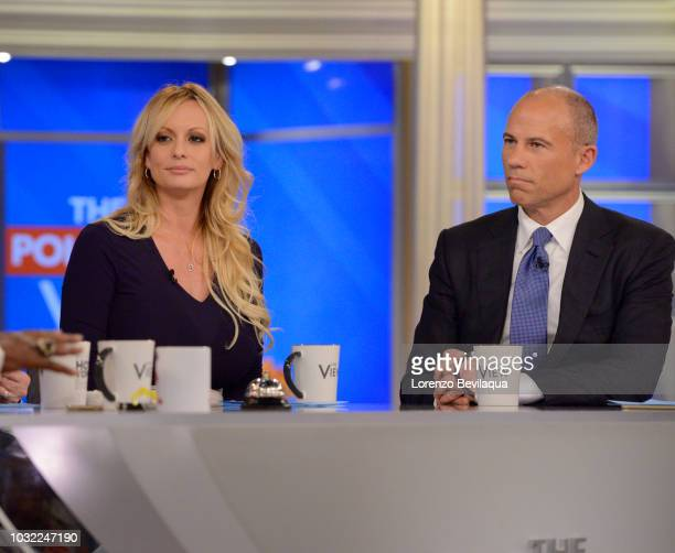 THE VIEW Stormy Daniels is joined by her attorney Michael Avenatti today Wednesday September 12 2018 on Walt Disney Television via Getty Images's The...