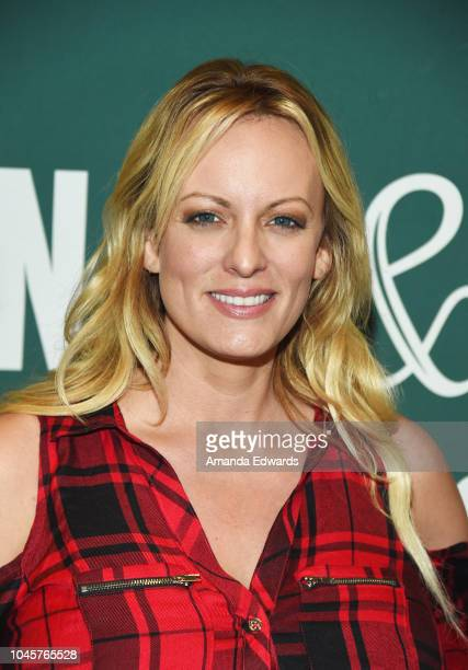 Stormy Daniels poses after signing copies of her new book Full Disclosure at Barnes Noble at The Grove on October 4 2018 in Los Angeles California