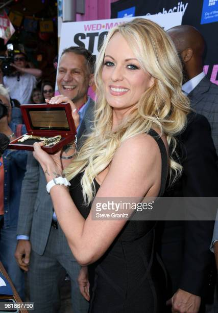 Stormy Daniels receives a City Proclamation and Key to the city of West Hollywood at Chi Chi LaRue's on May 23 2018 in West Hollywood California