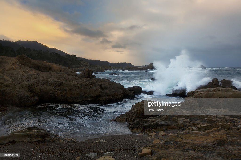 Stormy Evening at Point Lobos : Stock Photo