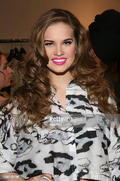 Stormy Henley backstage at the Indashio Fall 2011 fashion show at Style360 on February 16 2011 in New York City
