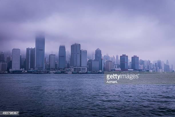 Stormy Hong Kong skyline