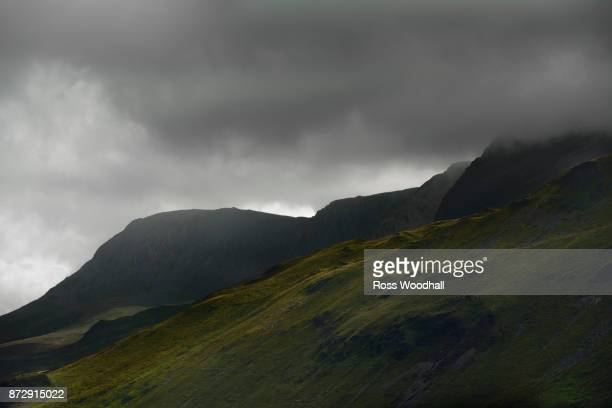 Stormy mountain landscape