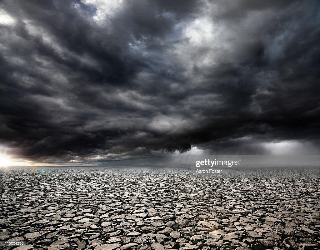 Stormy Rocky Background : Stock Photo