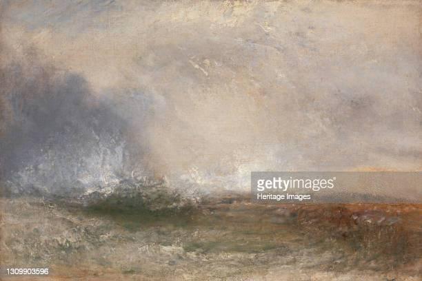 Stormy Sea Breaking on a Shore;Waves Breaking on the Shore;Waves breaking on the Shore, between 1840 and 1845. Artist JMW Turner. .