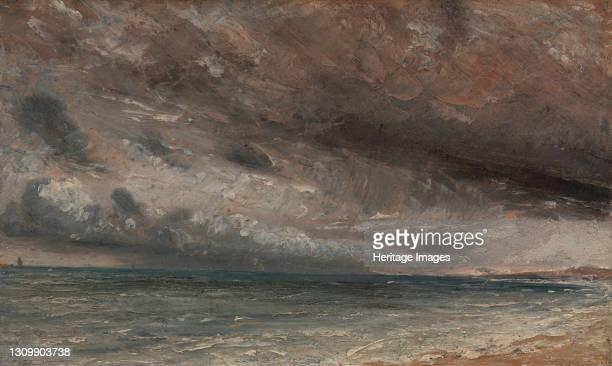 Stormy Sea, Brighton;The Coast at Brighton - Stormy Evening;Coast at Brighton; Stormy Day;Brighton, July 20th 1828;A Stormy Coast Scene at Brighton,...