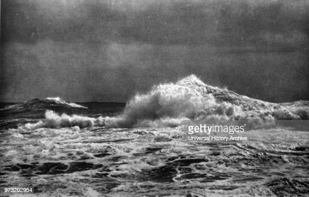 Stormy Sea c 1920 by Franz Schensky