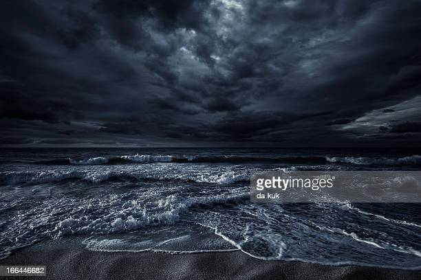 stormy sea - dark stock pictures, royalty-free photos & images