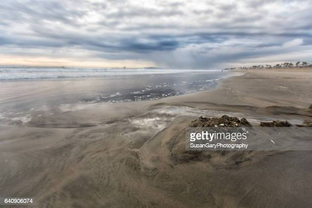 Stormy Seaside Beach
